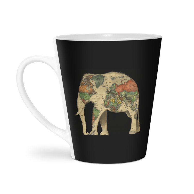 save the elephants Accessories Latte Mug by Fathi