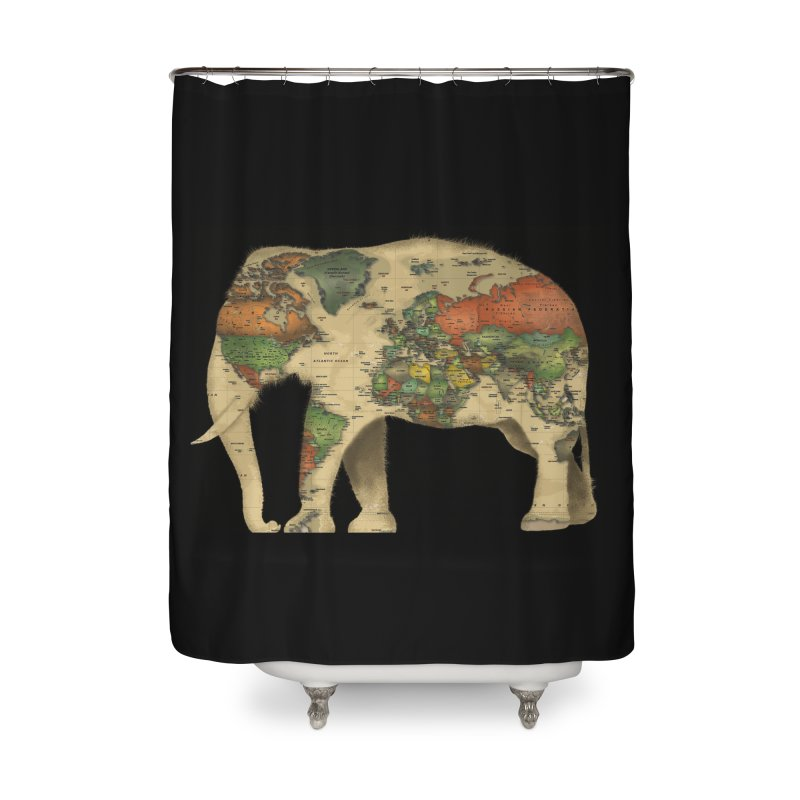 save the elephants Home Shower Curtain by Fathi
