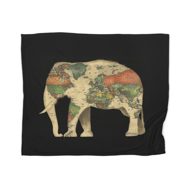 save the elephants Home Blanket by Fathi
