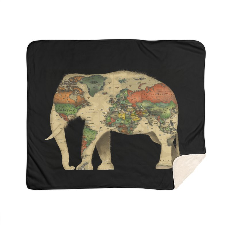 save the elephants Home Sherpa Blanket Blanket by Fathi