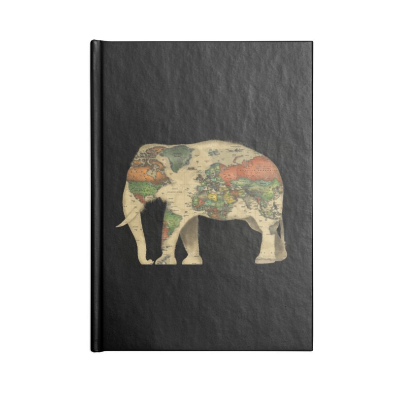 save the elephants Accessories Lined Journal Notebook by Fathi