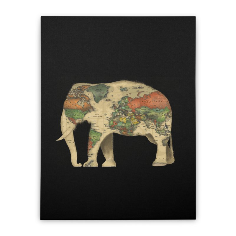 save the elephants Home Stretched Canvas by Fathi