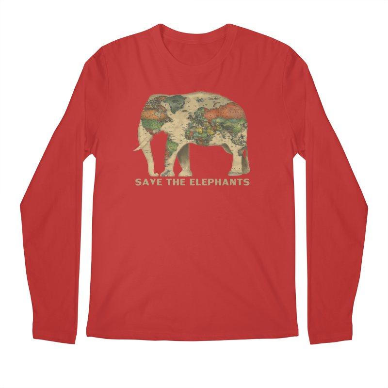 save the elephants Men's Regular Longsleeve T-Shirt by Fathi