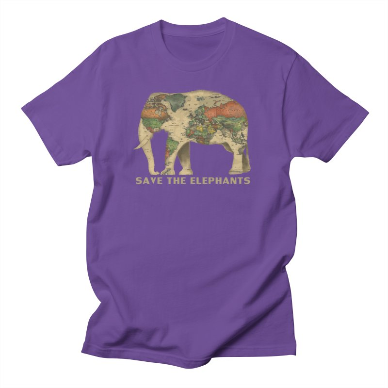 save the elephants Men's Regular T-Shirt by Fathi