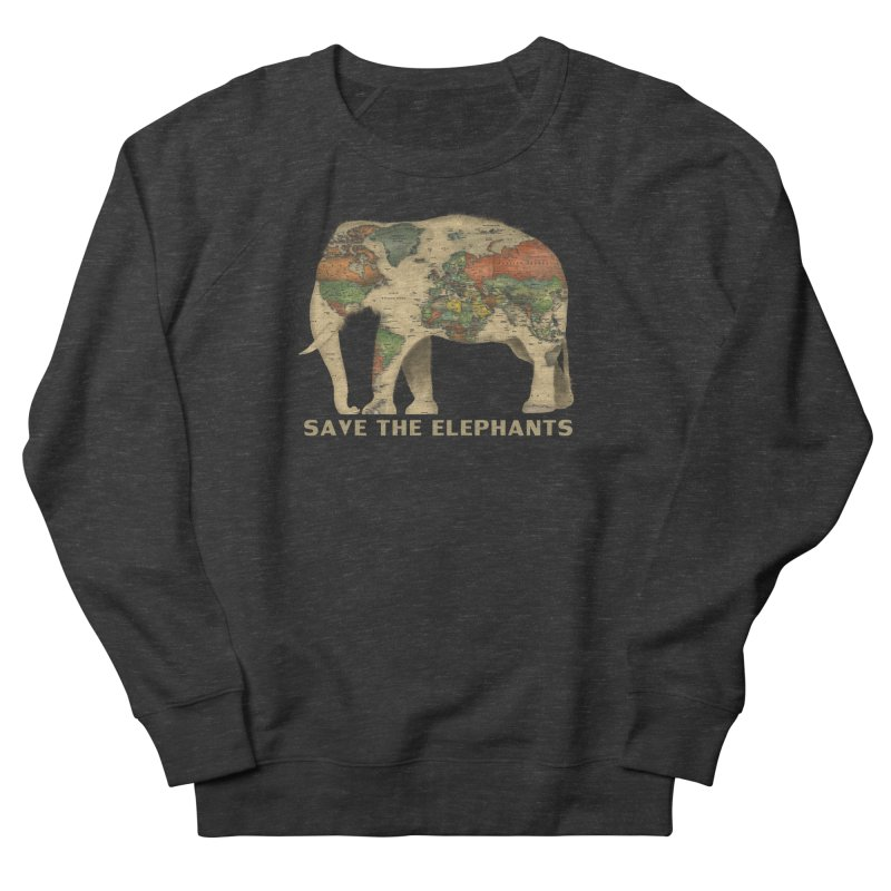save the elephants Women's French Terry Sweatshirt by Fathi