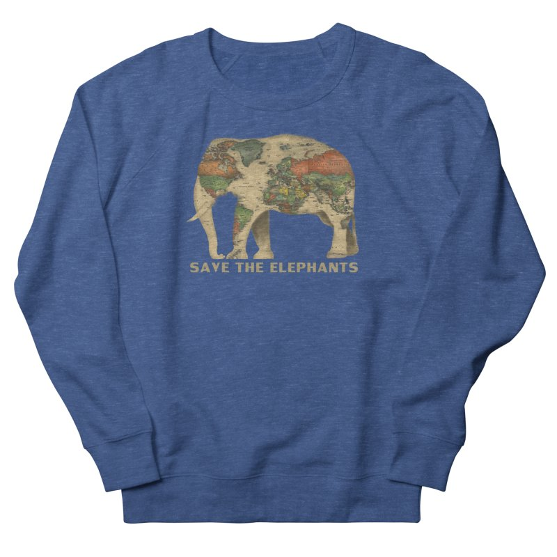 save the elephants Men's French Terry Sweatshirt by Fathi