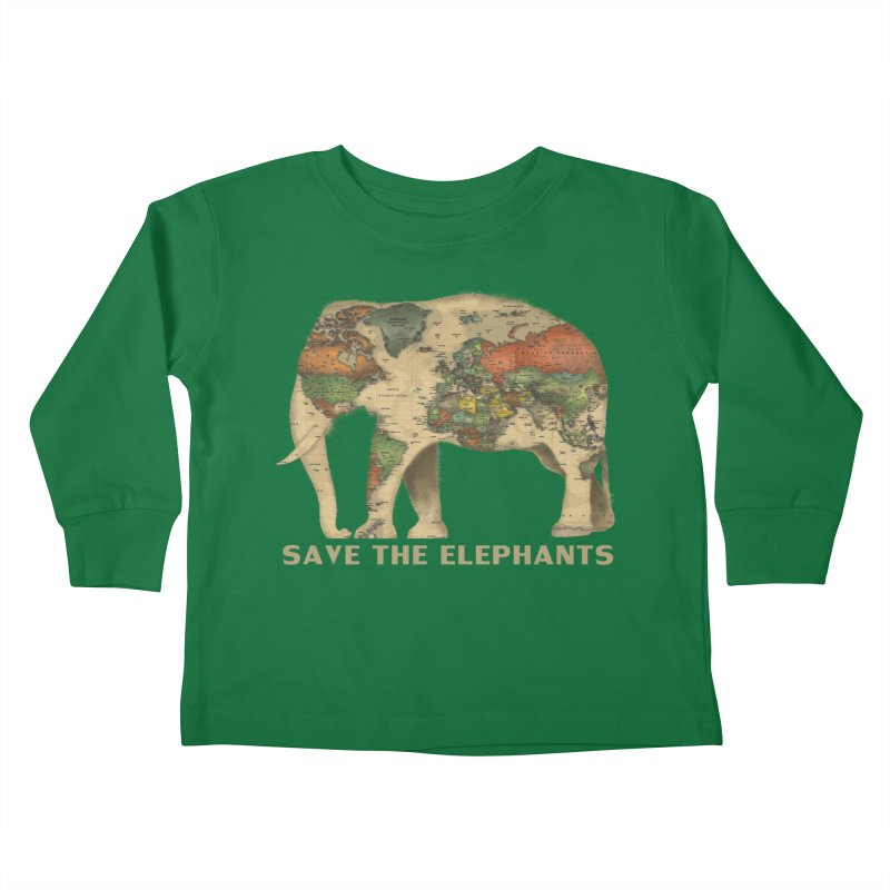 save the elephants Kids Toddler Longsleeve T-Shirt by Fathi