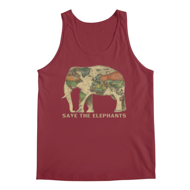 save the elephants Men's Regular Tank by Fathi