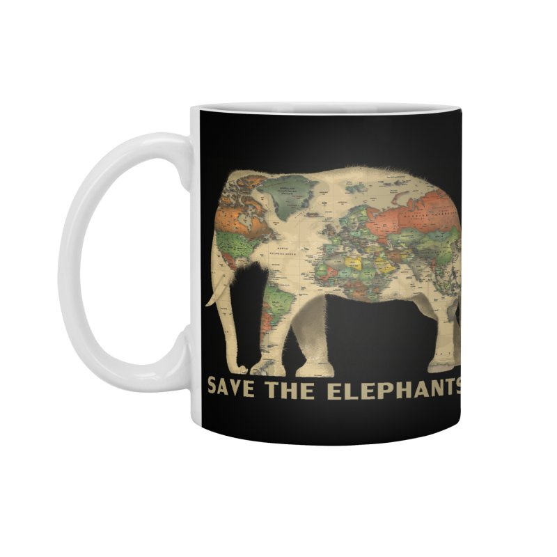 save the elephants Accessories Standard Mug by Fathi