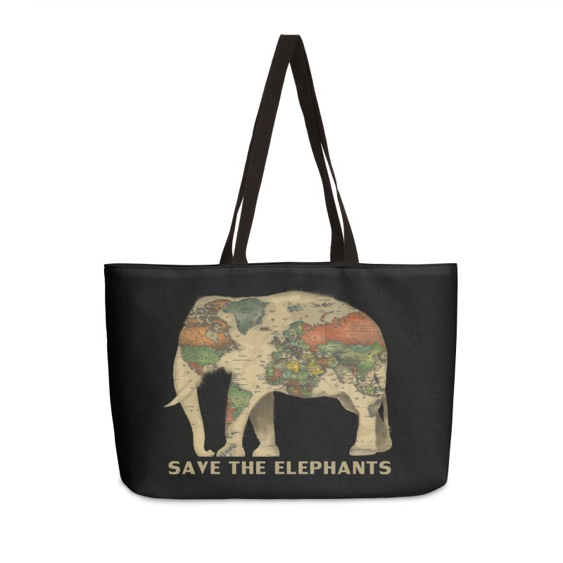 save the elephants Accessories Weekender Bag Bag by Fathi