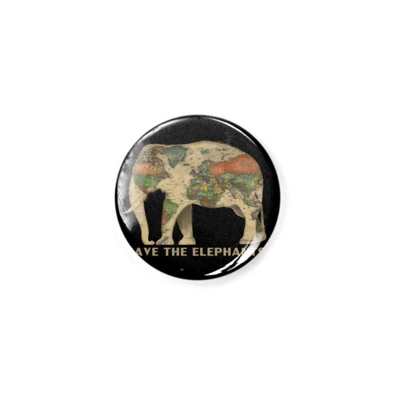 save the elephants Accessories Button by Fathi