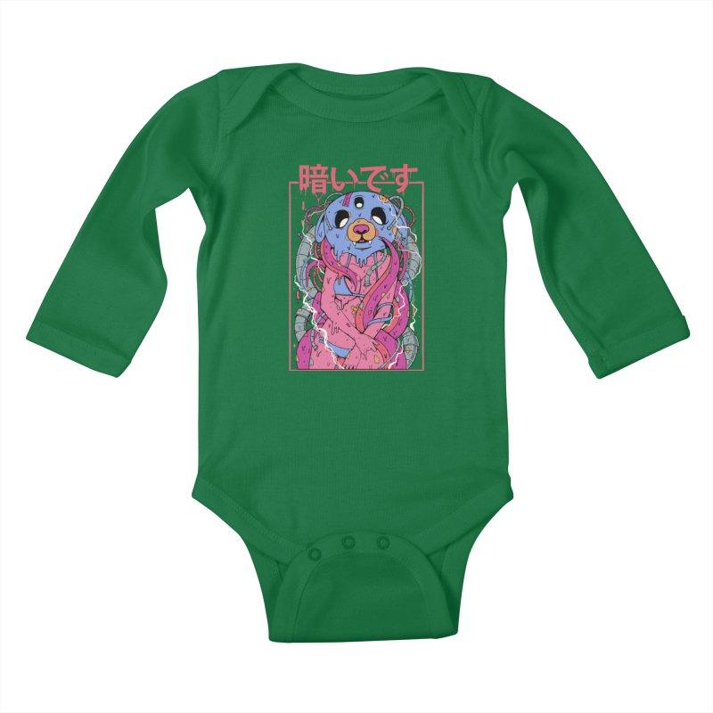 Kurai Desu Kids Baby Longsleeve Bodysuit by Fathi