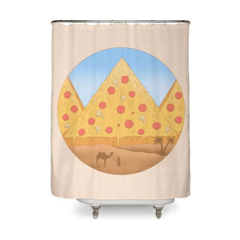 Pizzamids Home Shower Curtain by Fathi