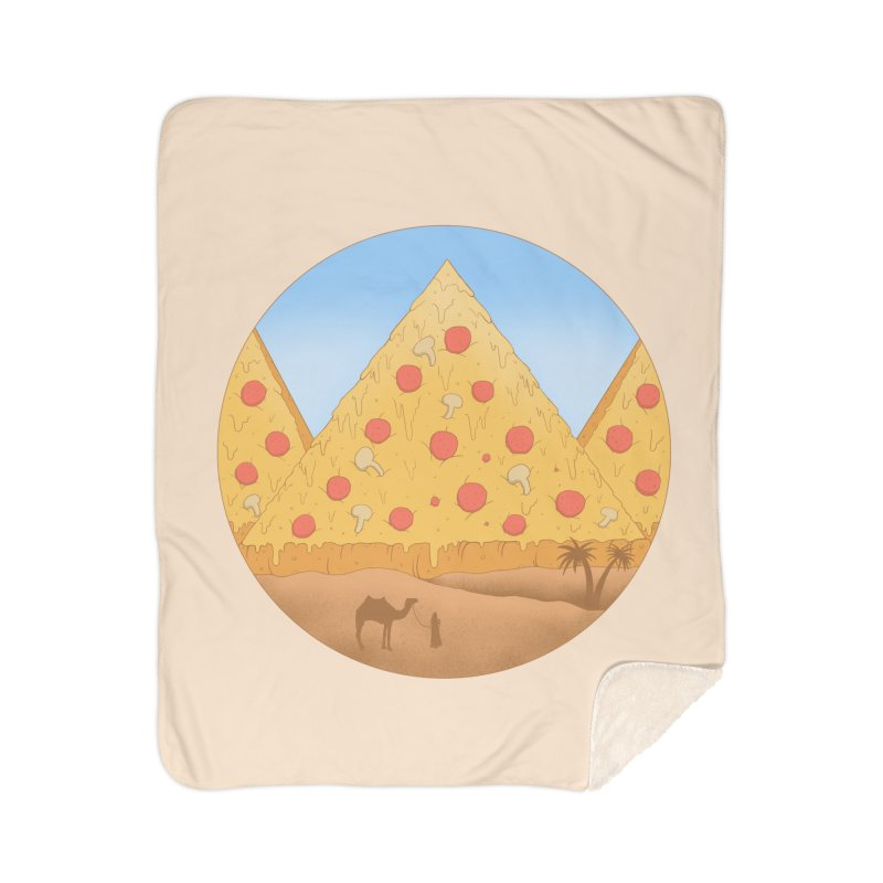 Pizzamids Home Sherpa Blanket Blanket by Fathi