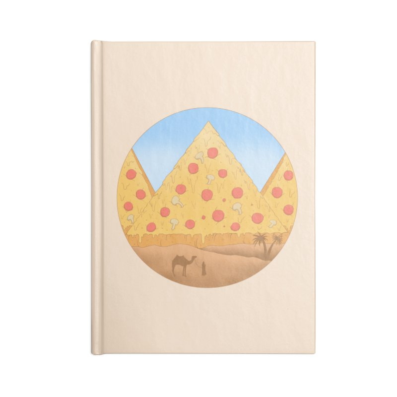 Pizzamids Accessories Lined Journal Notebook by Fathi