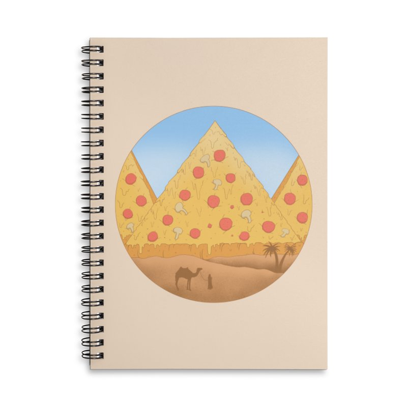 Pizzamids Accessories Lined Spiral Notebook by Fathi