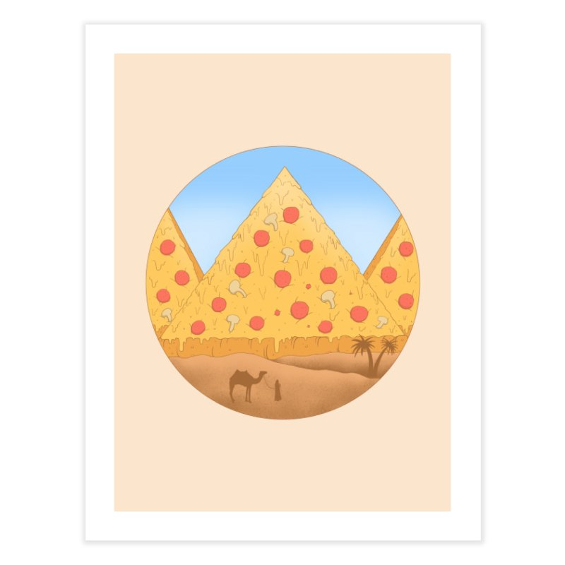 Pizzamids Home Fine Art Print by Fathi