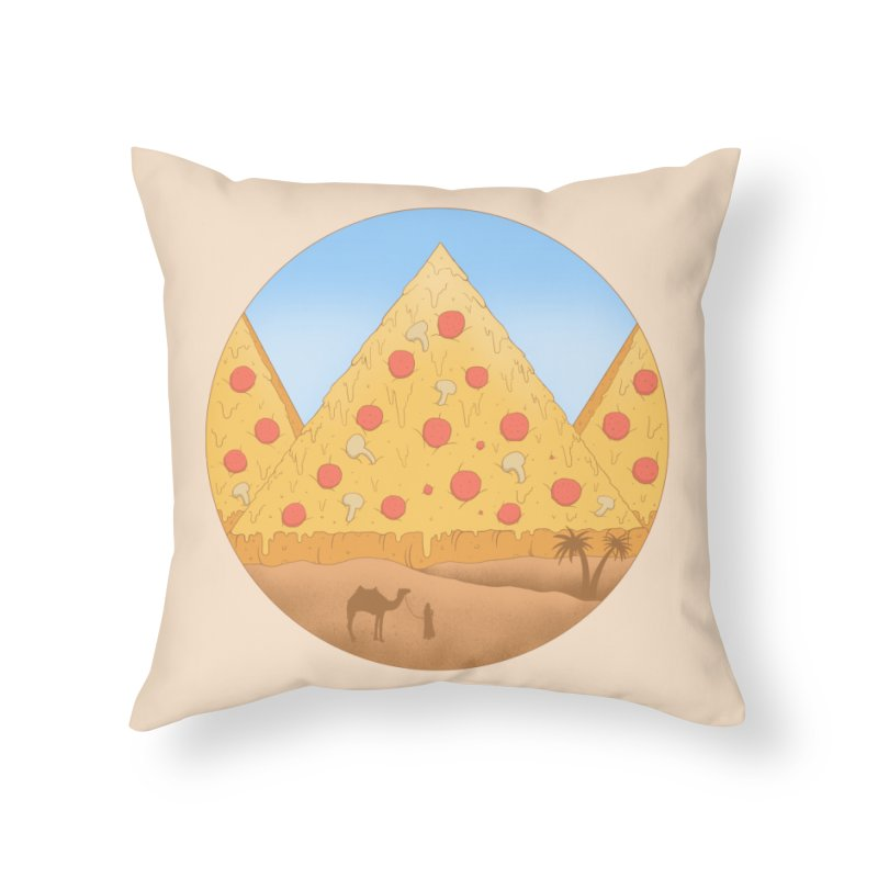 Pizzamids Home Throw Pillow by Fathi