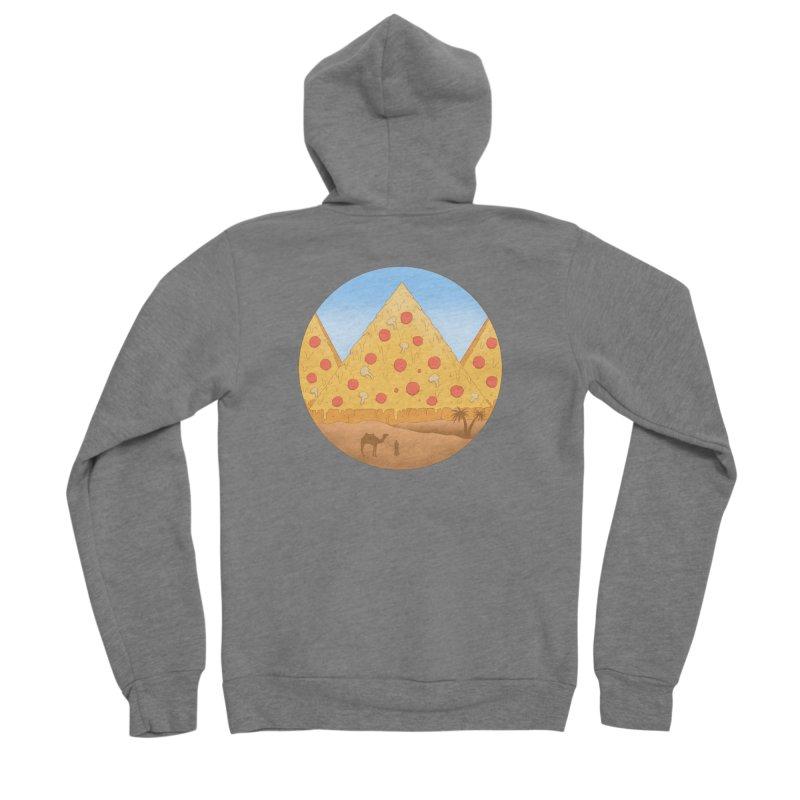 Pizzamids Women's Sponge Fleece Zip-Up Hoody by Fathi