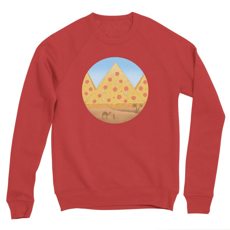 Pizzamids Men's Sponge Fleece Sweatshirt by Fathi