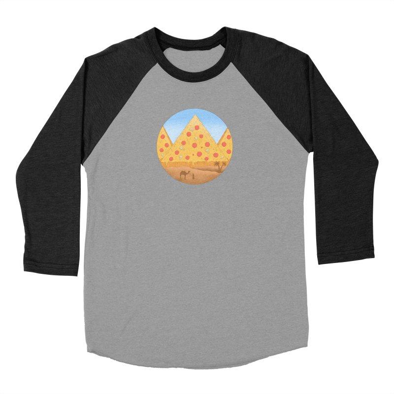 Pizzamids Men's Baseball Triblend Longsleeve T-Shirt by Fathi