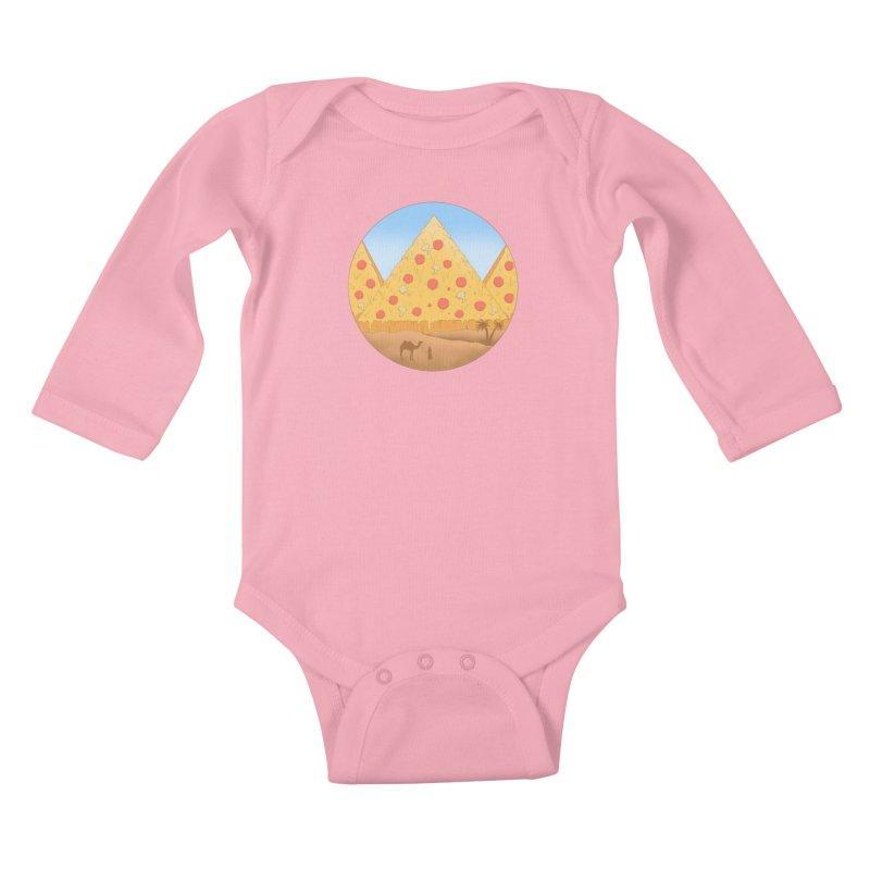 Pizzamids Kids Baby Longsleeve Bodysuit by Fathi