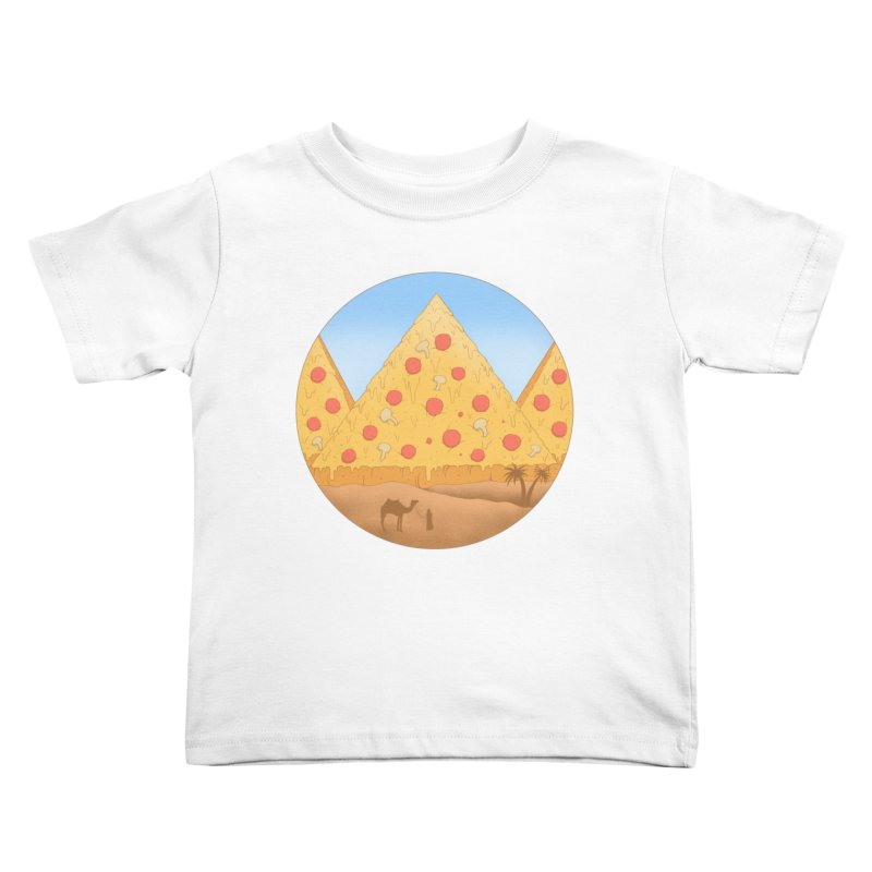 Pizzamids Kids Toddler T-Shirt by Fathi