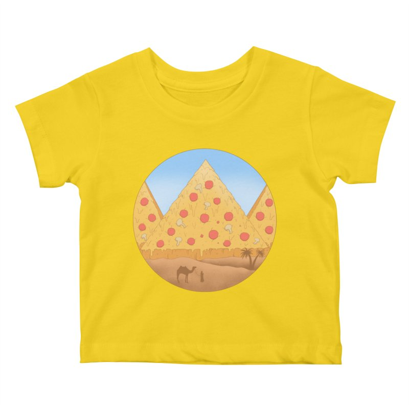 Pizzamids Kids Baby T-Shirt by Fathi