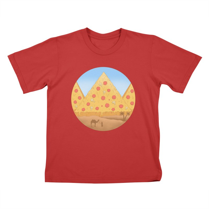Pizzamids Kids T-Shirt by Fathi