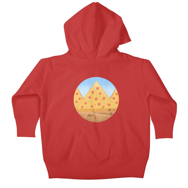 Pizzamids Kids Baby Zip-Up Hoody by Fathi