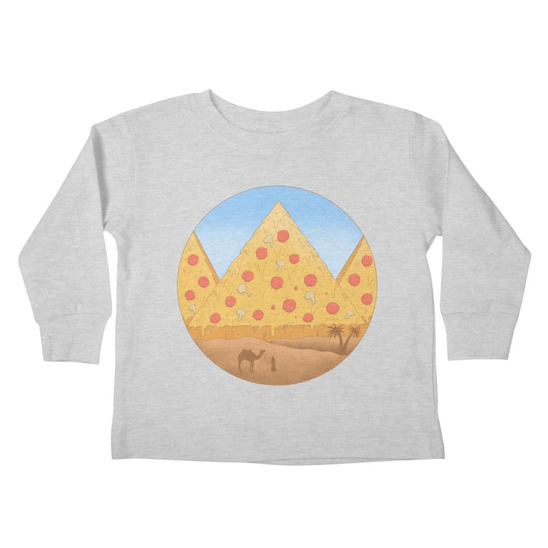 Pizzamids Kids Toddler Longsleeve T-Shirt by Fathi