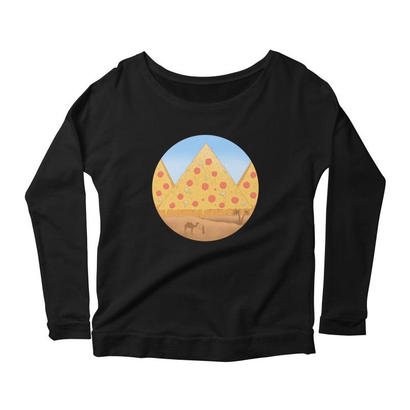 Pizzamids Women's Scoop Neck Longsleeve T-Shirt by Fathi