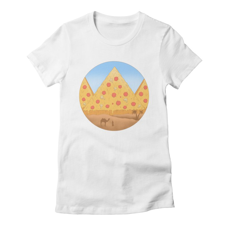 Pizzamids Women's Fitted T-Shirt by Fathi