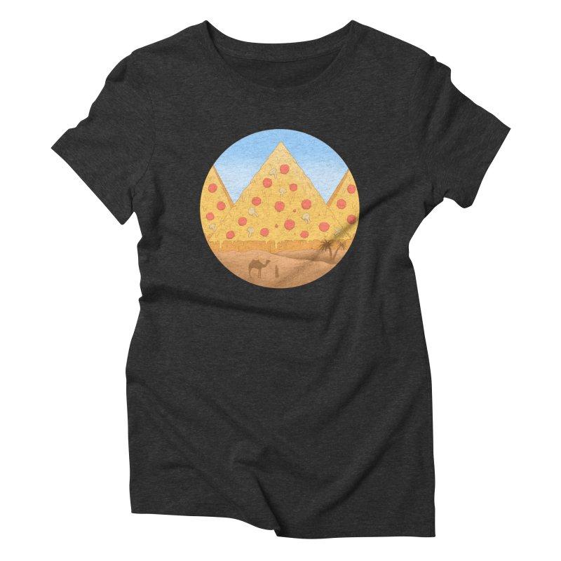 Pizzamids Women's Triblend T-Shirt by Fathi