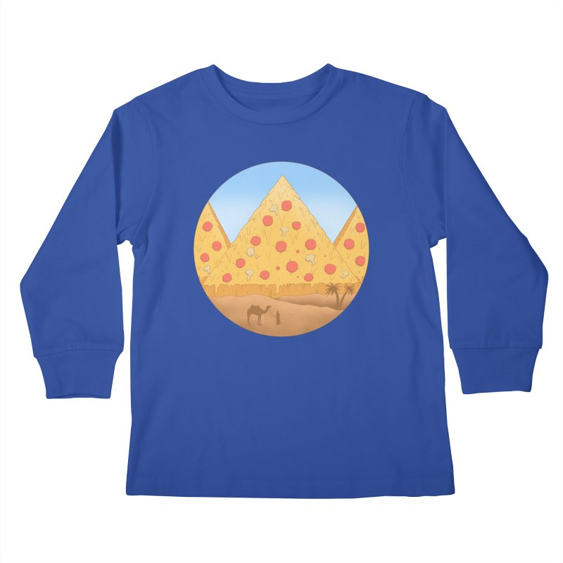 Pizzamids Kids Longsleeve T-Shirt by Fathi