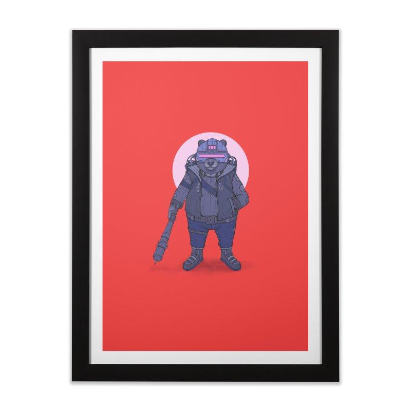 Cybear Punk Home Framed Fine Art Print by Fathi