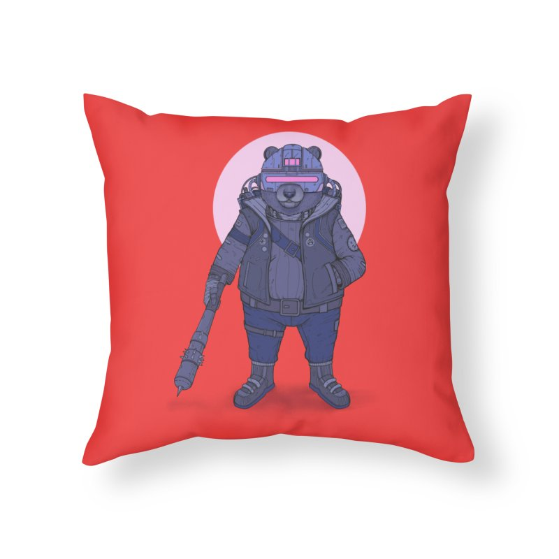 Cybear Punk Home Throw Pillow by Fathi
