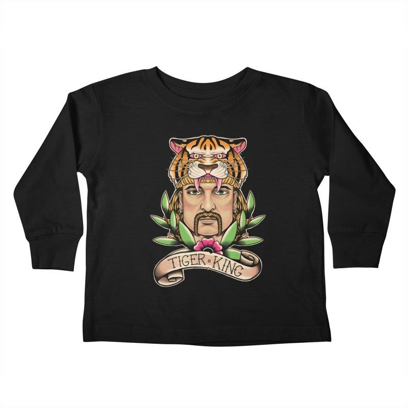 Tiger King Kids Toddler Longsleeve T-Shirt by Fathi