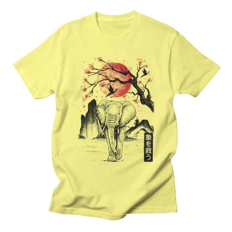 Elephant Japanese Men's T-Shirt by Fathi