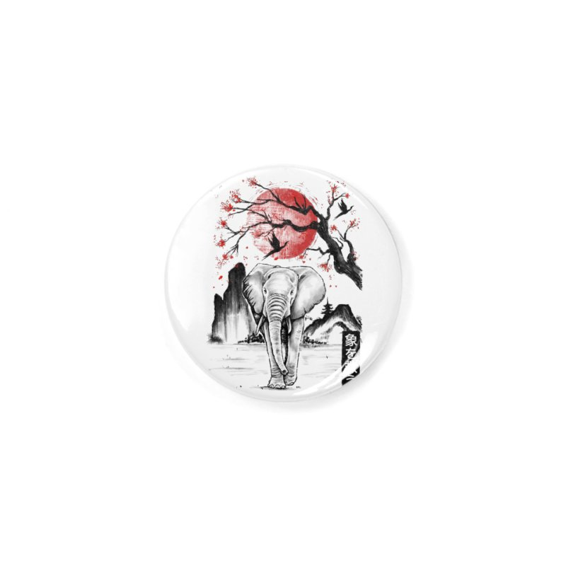 Elephant Japanese Accessories Button by Fathi