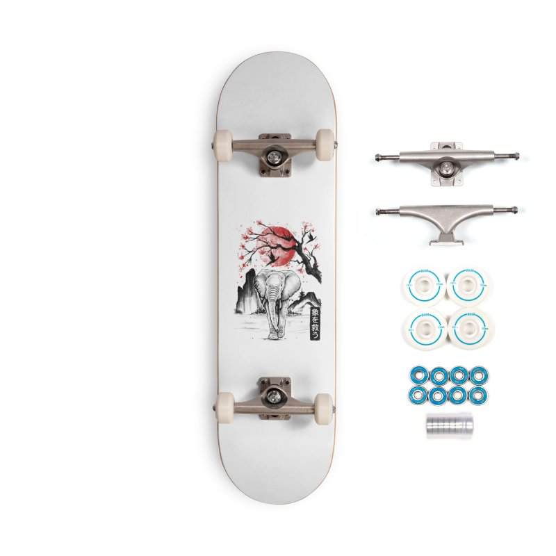 Elephant Japanese Accessories Skateboard by Fathi