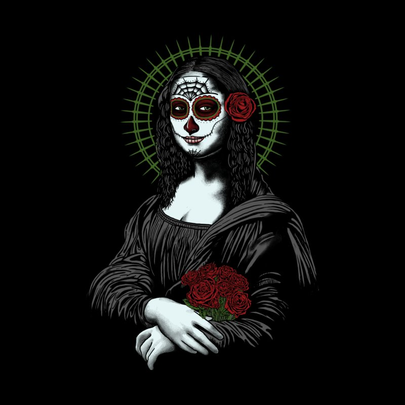 Muerte Monalisa Women's Fitted T-Shirt by Fathi