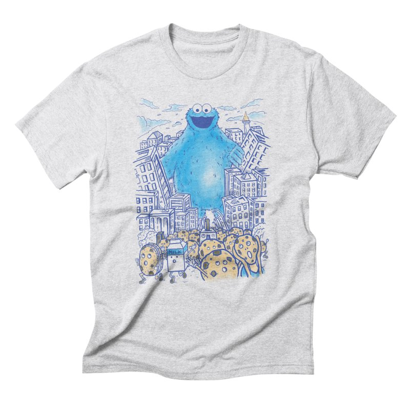 Monster In The City Men's Triblend T-shirt by Fathi