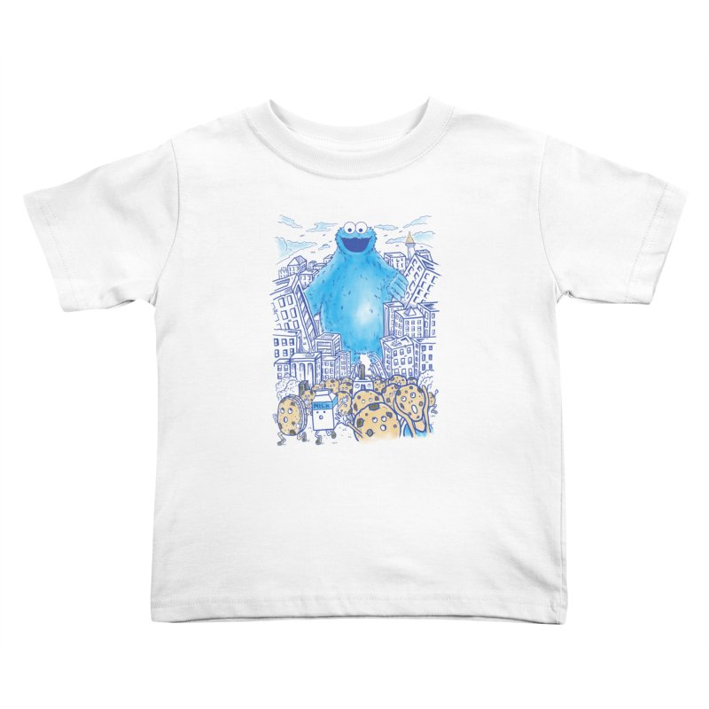 Monster In The City Kids Toddler T-Shirt by Fathi