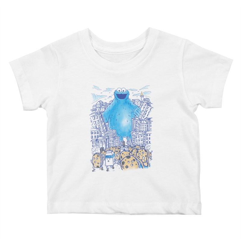 Monster In The City Kids Baby T-Shirt by Fathi