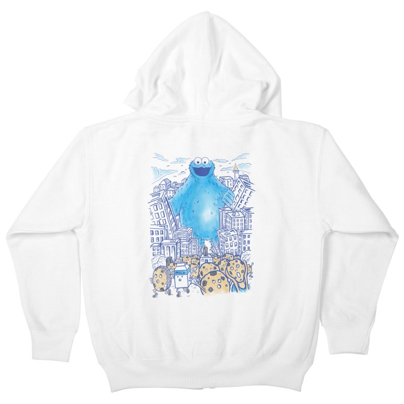 Monster In The City Kids Zip-Up Hoody by Fathi