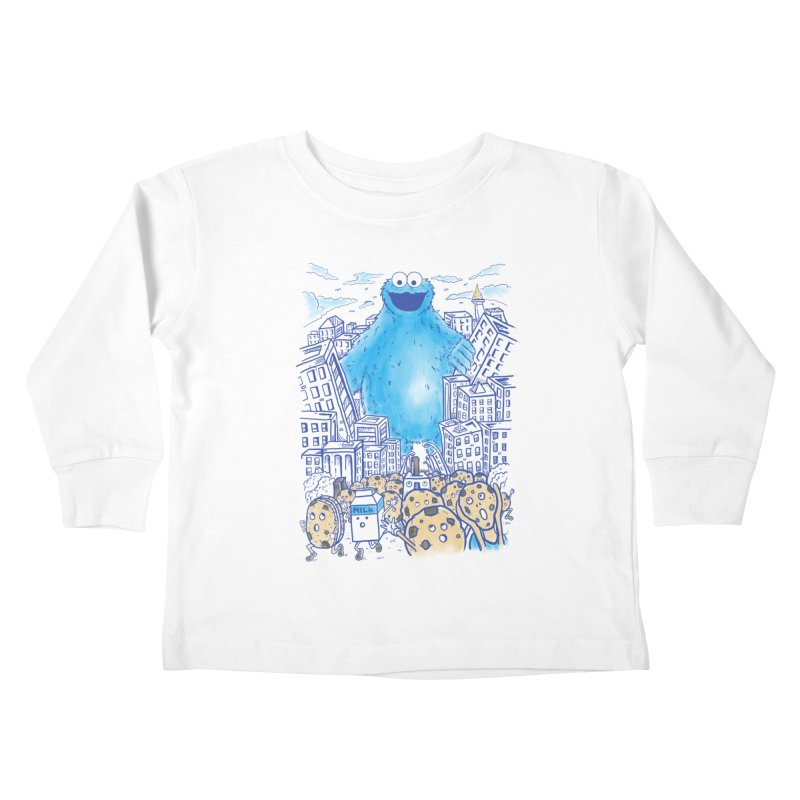 Monster In The City Kids Toddler Longsleeve T-Shirt by Fathi