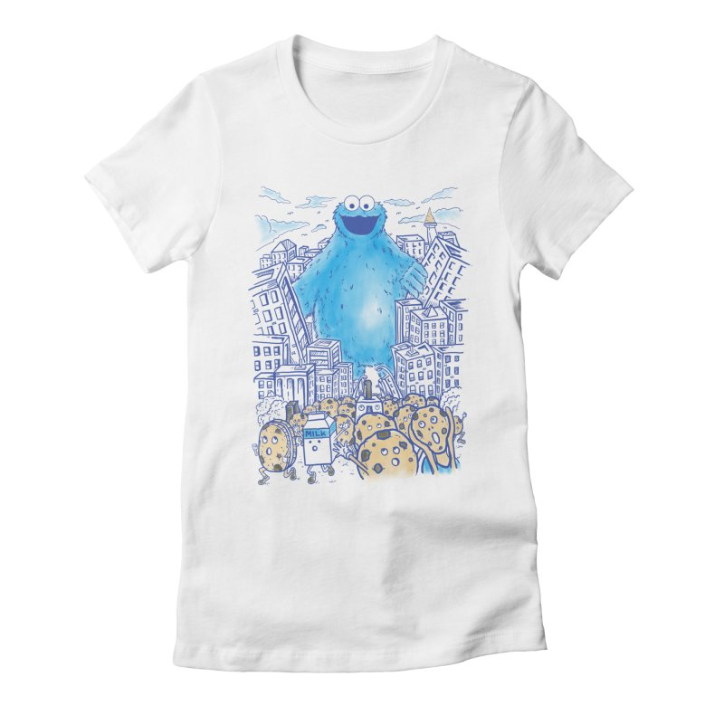 Monster In The City Women's Fitted T-Shirt by Fathi