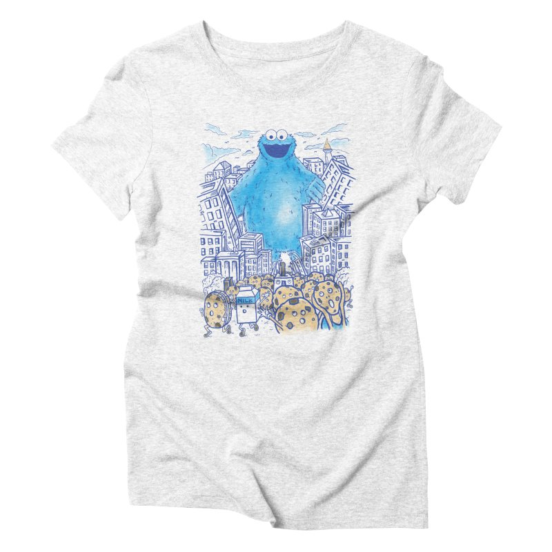Monster In The City Women's Triblend T-shirt by Fathi