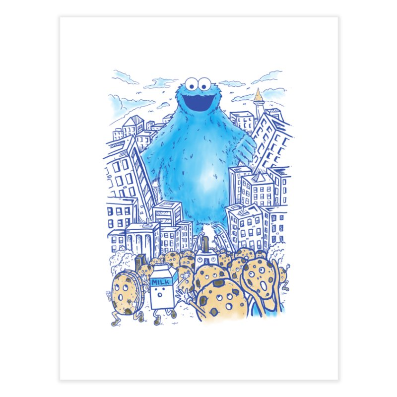 Monster In The City Home Fine Art Print by Fathi
